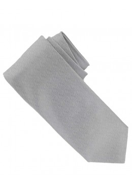 Woven Solid Color Textured Silk Tie, Light Gray